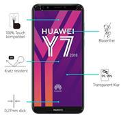 Panzerglas für Huawei Y7 2018 Glas Folie Displayschutz Schutzfolie