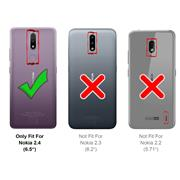 Panzerglas für Nokia 2.4 Glas Folie Displayschutz Schutzfolie