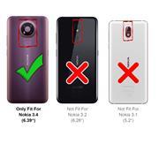 Panzerglas für Nokia 3.4 Glas Folie Displayschutz Schutzfolie