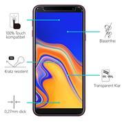 Panzerglas für Samsung Galaxy J4 Plus Glas Folie Displayschutz Schutzfolie
