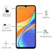 Panzerglas für Xiaomi Redmi 9C Glas Folie Displayschutz Schutzfolie