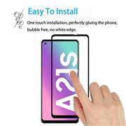 Full Screen Panzerglas für Samsung Galaxy A21s Schutzfolie Glas Vollbild Panzerfolie