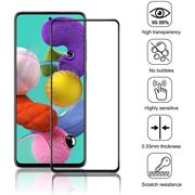 Fullscreen Panzerglas für Samsung Galaxy A51 Glas Folie Curved Schutzfolie