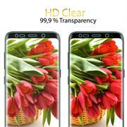 Fullscreen Panzerfolie für Samsung Galaxy S8 [PET + TPU Material] Schutzfolie [Vollständige Abdeckung] Folie