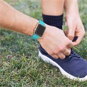 Sport Armband Gr. L 38/40 mm für Apple Watch Series 1 / 2 / 3 / 4 / 5 / 6 / SE Ersatzarmband Silikon Band