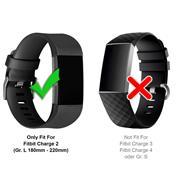 Sport Armband Gr. L für Fitbit Charge 2 Ersatzarmband Fitness Silikon Band Ersatzband