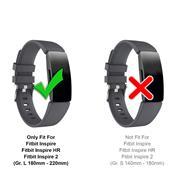 Sport Armband Gr. L für Fitbit Inspire, Inspire 2 Ersatzarmband Fitness Silikon Band Ersatzband