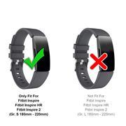 Sport Armband Gr. S für Fitbit Inspire, Inspire 2 Ersatzarmband Fitness Silikon Band Ersatzband