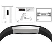 Sport Armband Gr. L für Fitbit Alta, Alta HR Ersatzarmband Fitness Silikon Band