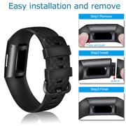 Sport Armband Gr. S für Fitbit Charge 3, Charge 4 Ersatzarmband Fitness Silikon Band Ersatzband