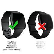 Sport Armband Gr. S für Fitbit Versa, Versa 2, Versa Lite Ersatzarmband Fitness Silikon Band Ersatzband