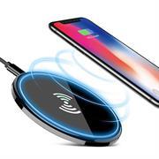 QI Wireless Ladegerät für induktives Aufladen des Smartphone extrem flacher Charger