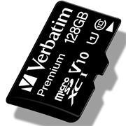 Verbatim Premium 128 GB Micro SD SDXC Speicherkarte + Adapter Class 10 Card Karte