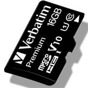 Verbatim Premium 16 GB Micro SD SDHC Speicherkarte + Adapter Class 10 Card Karte