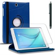 Rotation Tasche für - Samsung Galaxy Tab 4 7.0 - Hülle drehbare Klapphülle Case in Blau