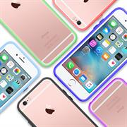Bumper für Apple iPhone 5 / 5S / SE Hülle - Schutzhülle seitlich transparent TPU Silikon