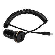 Hoco KFZ Ladegerät Z14 mit 3.4A - Spiral Micro USB Kabel Stecker mit USB