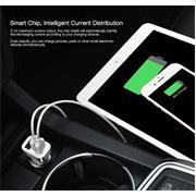 Hoco KFZ Ladegerät Z3 Dual USB - Solo Stecker mit Digital Anzeige Schnelllader 3.1A