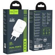 Hoco N4 USB Ladegerät Netzteil Dual Port mit 2.4A Reise Ladestecker