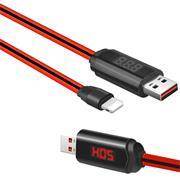 Hoco U29 LED Kabel Lightning Ladekabel USB Datenkabel mit Anzeige