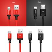 Hoco USB Kabel High Speed X14 - Lightning Stecker 1m schnell Ladekabel Nylon Datenkabel