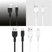 Hoco USB Kabel Flash X20 - 1m Micro USB Ladekabel verstärkte Kabelführung Datenkabel