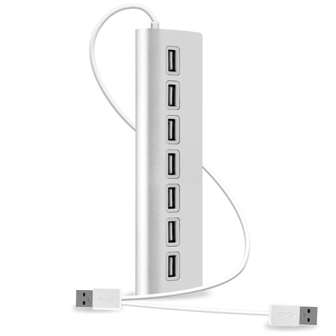 High Speed 2.0 USB HUB 7 Port Kabel Verteiler Adapter Stecker Laptop PC Mac ALU