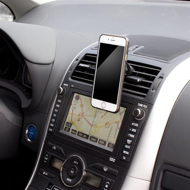 KFZ Halterung für Luftungsgitter Smartphonehalter Magnet Handy Halter in schwarz