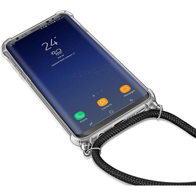Handykette + Hülle für Huawei P20 Schutzhülle mit Band Kordel Schnur Case zum umhängen