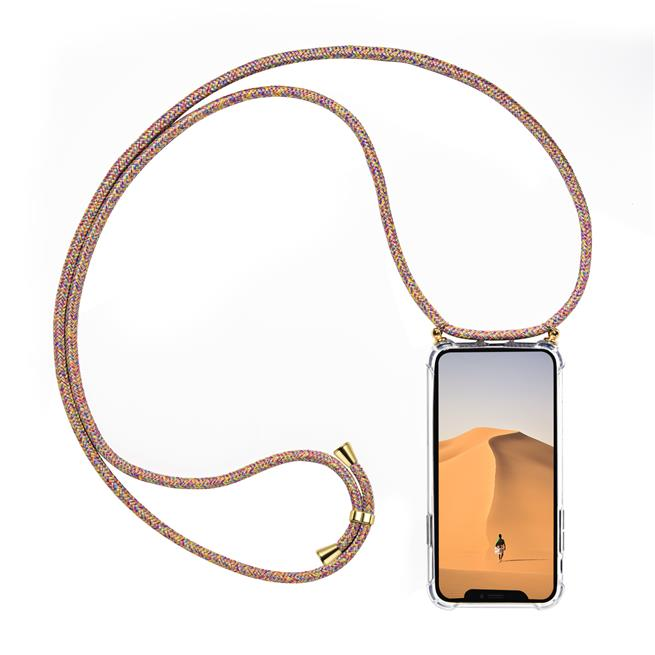 Handykette + Hülle für Apple iPhone 8, iPhone SE 2020 Schutzhülle, iPhone 7 Hülle mit Band Kordel Schnur Case zum umhängen