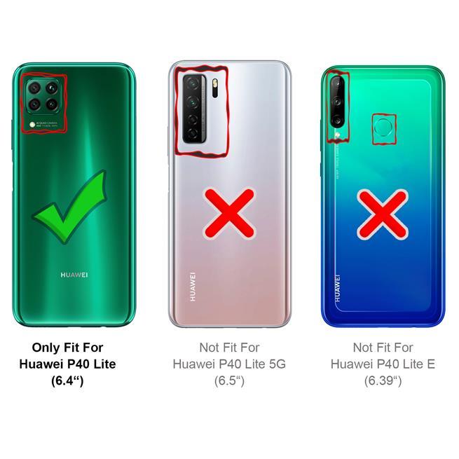 Flipcase für Huawei P40 Lite Hülle Klapphülle Cover klassische Handy Schutzhülle