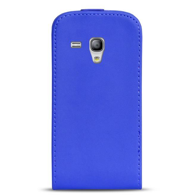 Basic Flip Case für Samsung Galaxy S3 Mini Klapptasche Cover Hülle in Blau