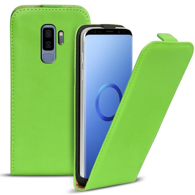 Basic Flip Case für Samsung Galaxy S9 Klapptasche Cover Flipstyle Hülle in Grün