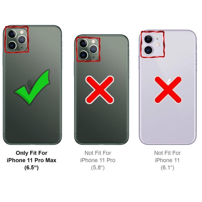 Basic Handyhülle für Apple iPhone 11 Pro Max Hülle Book Case klappbare Schutzhülle