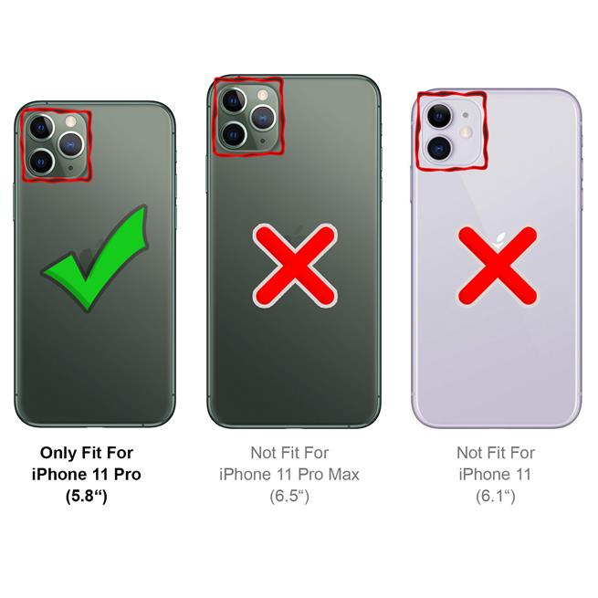 Basic Handyhülle für Apple iPhone 11 Pro Hülle Book Case klappbare Schutzhülle