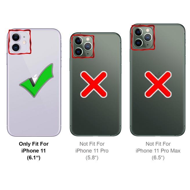 Basic Handyhülle für Apple iPhone 11 Hülle Book Case klappbare Schutzhülle