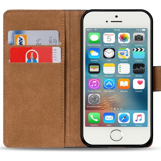 Basic Bookcase Hülle für Apple iPhone 5 / 5S / SE Schutzhülle