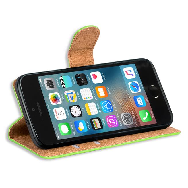 Basic Handyhülle für Apple iPhone 5 / 5s /SE Hülle Book Case klappbare Schutzhülle