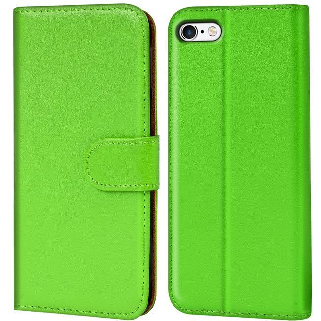 Basic Bookcase Hülle für Apple iPhone 6 / 6S Klapphülle Tasche mit Kartenfächer in Grün