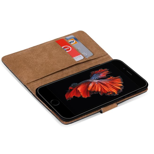 Basic Handyhülle für Apple iPhone 6 Plus / 6S Plus Hülle Book Case klappbare Schutzhülle