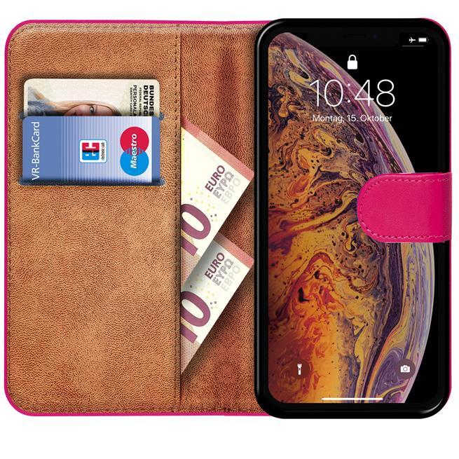 Basic Bookcase Hülle für Apple iPhone XS Max Tasche mit Kartenfächern