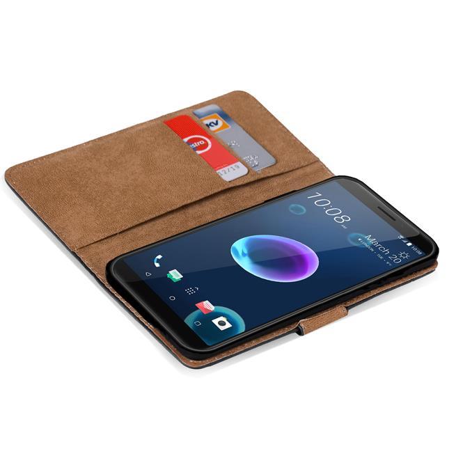 Basic Bookcase Hülle für HTC Desire 12+ Schutzhülle mit Kartenfächern
