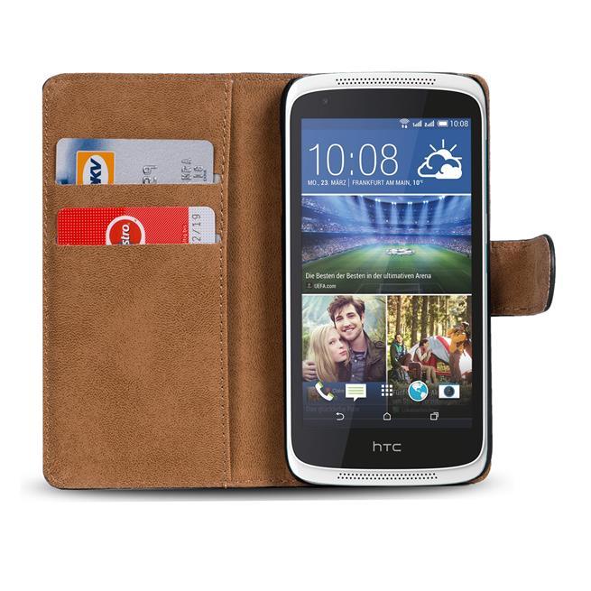 Basic Bookcase Hülle für HTC Desire 526 / 526g aufstellbare Tasche