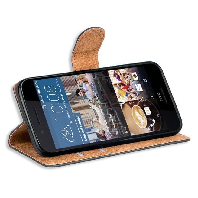 Basic Handyhülle für HTC Desire 728 g Hülle Book Case klappbare Schutzhülle