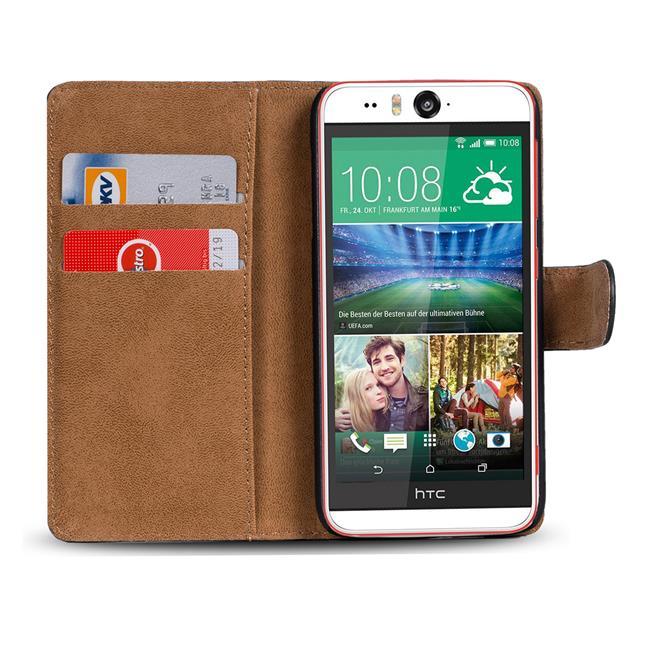 Basic Bookcase Hülle für HTC Desire Eye aufstellbare Klapptasche