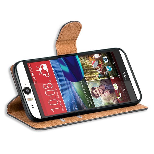 Basic Handyhülle für HTC Desire Eye Hülle Book Case klappbare Schutzhülle