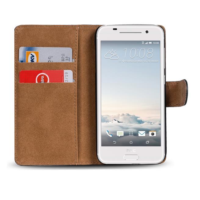 Basic Bookcase Hülle für HTC One A9 Schutzhülle mit Kartenfächern