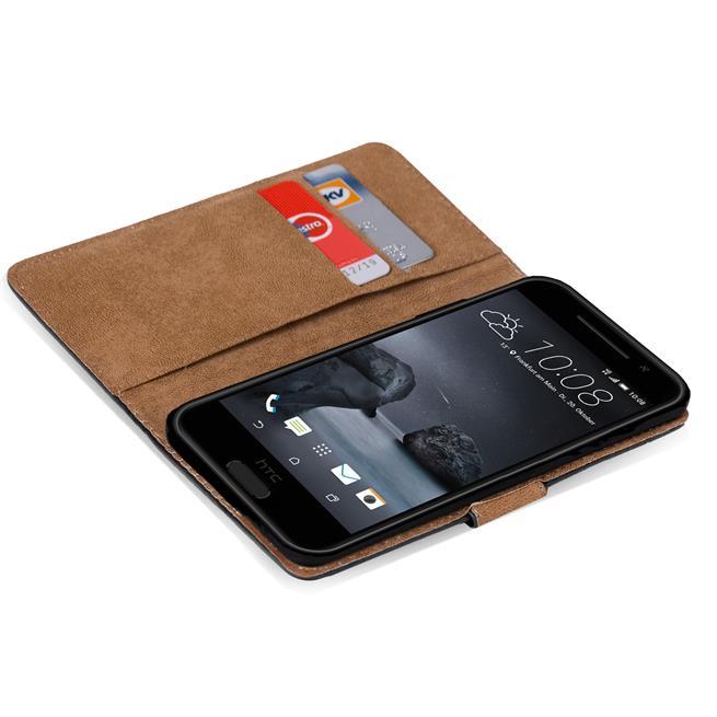 Basic Handyhülle für HTC One A9 Hülle Book Case klappbare Schutzhülle