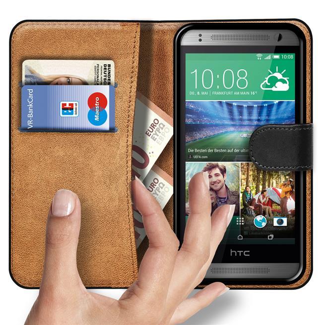 Basic Bookcase Hülle für HTC One Mini Schutzhülle mit Kartenfächern