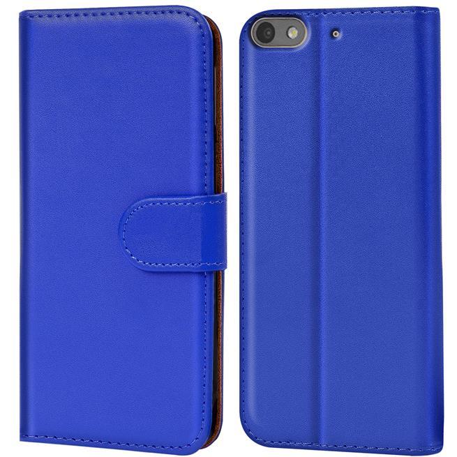 Basic Bookcase Hülle für Huawei G Play Mini Klapphülle Tasche mit Kartenfächer in Blau